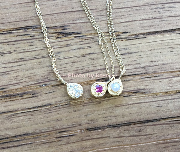 sowi(ソーイ)の誕生石ネックレス 12の宝石のしずくたち 2way