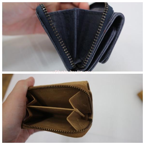 ミニレザーウォレット 本革ミニ財布 三つ折りコンパクト 小銭入れ2