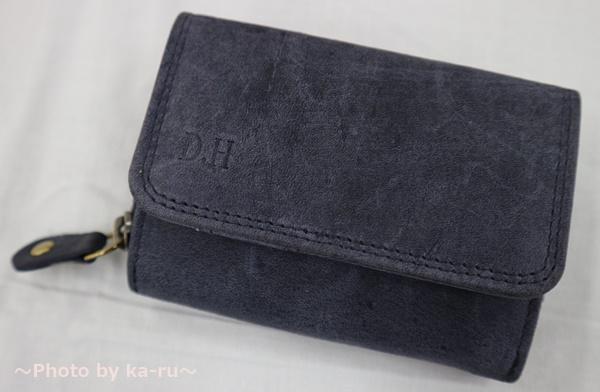ミニレザーウォレット 本革ミニ財布 三つ折りコンパクト 名入れ刻印