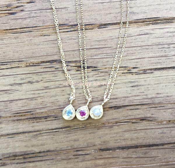 sowi(ソーイ)の誕生石ネックレス 12の宝石のしずくたち