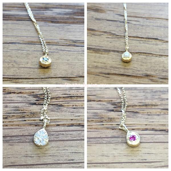 sowi(ソーイ)の誕生石ネックレス 12の宝石のしずくたち ヘッド
