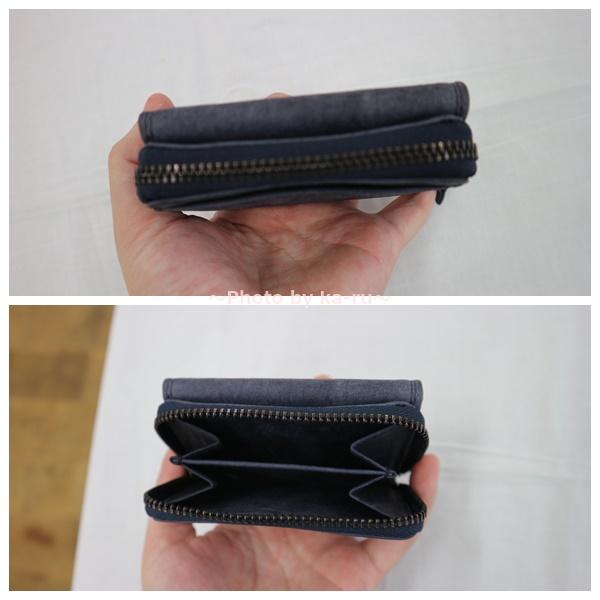 ミニレザーウォレット 本革ミニ財布 三つ折りコンパクト 小銭入れ