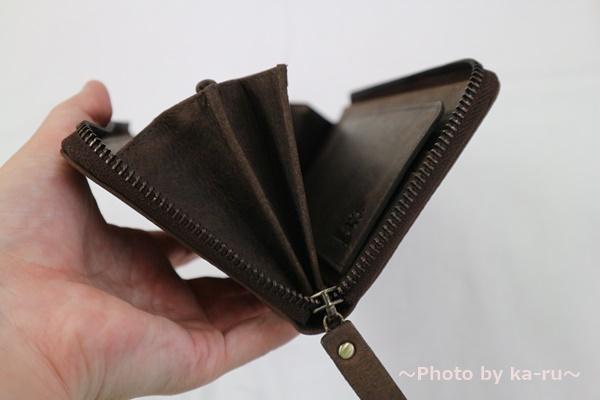 ハレルヤ TIDY(タイディ)長財布 大きく開く2