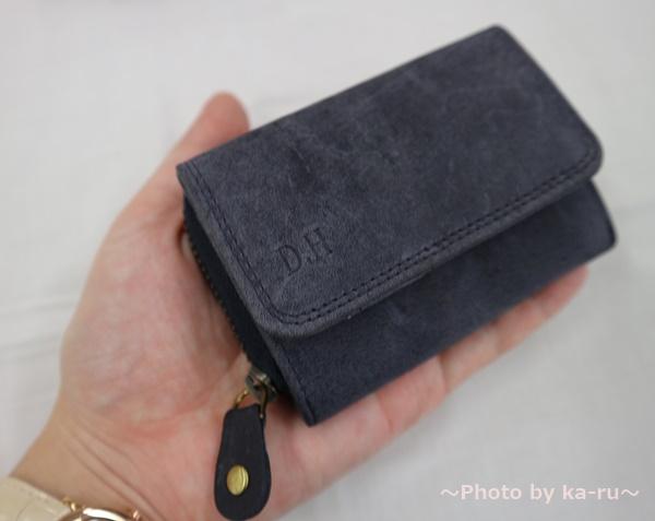 ミニレザーウォレット 本革ミニ財布 三つ折りコンパクト サイズ