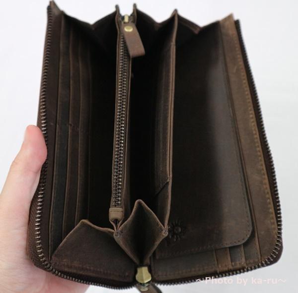 ハレルヤ TIDY(タイディ)長財布 大きく開く