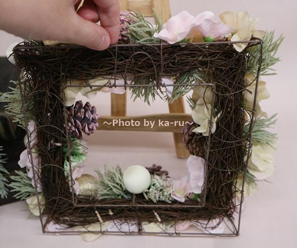【日比谷花壇】クリスマス アーティフィシャルスクエアリース「テレッツァ」 裏側