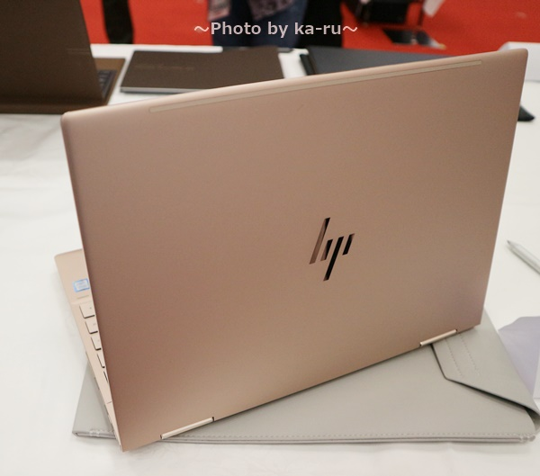 ピンクノートパソコンHP Spectre x360 Special Edition_天板