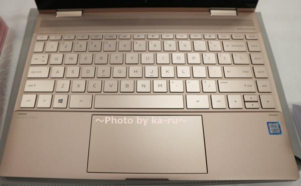 ピンクノートパソコンHP Spectre x360 Special Edition_英字キーボード