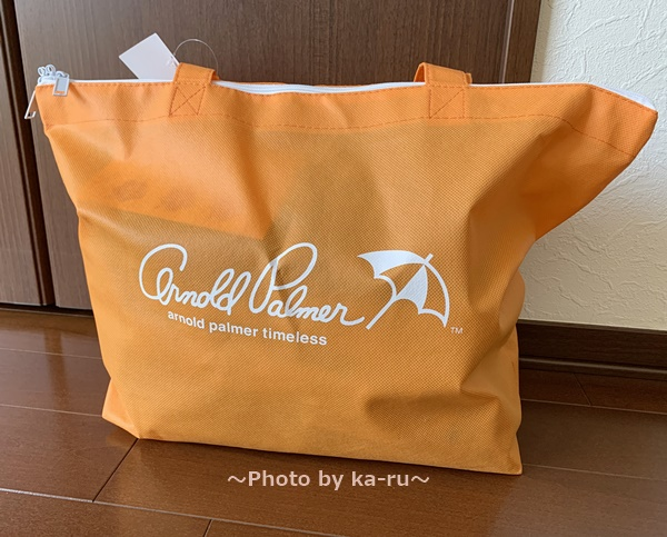 【2019福袋】アーノルドパーマー_オレンジの袋 福袋が入っている袋