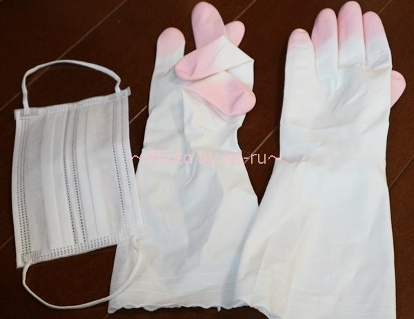 UVレジンテクニックレッスンの会_必要な道具 マスク手袋