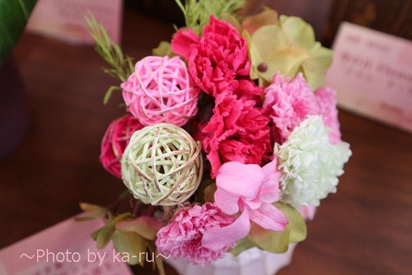 プリザーブドフラワー「てまり富士」_使われているお花