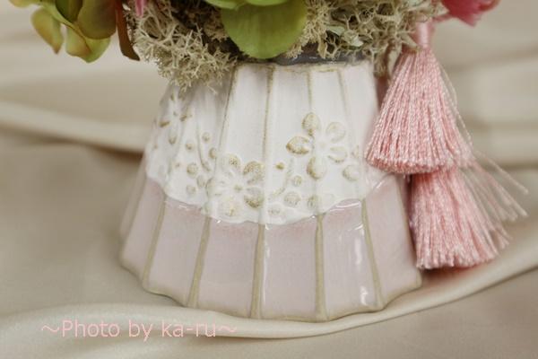 プリザーブドフラワー「てまり富士」_お花のデザインとタッセル