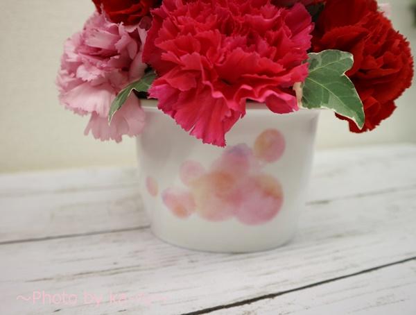 アレンジメント「ロゼボヌール」_オリジナルの花器