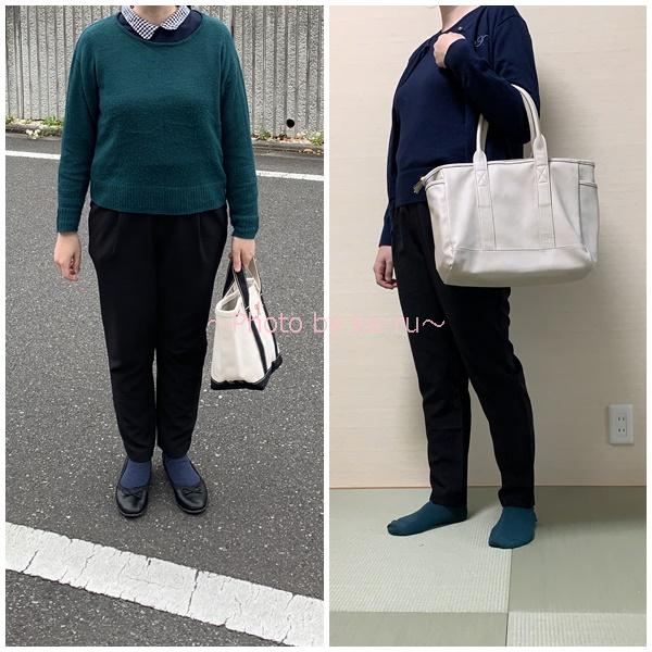 ベルーナキレイ美シルエットタックパンツ_履いた感想