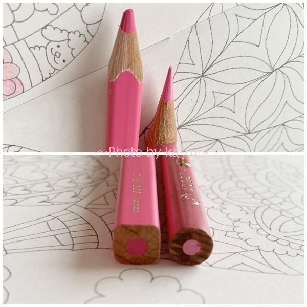 フェリシモ500色の色えんぴつ TOKYO SEEDS_ぬりえ 比較