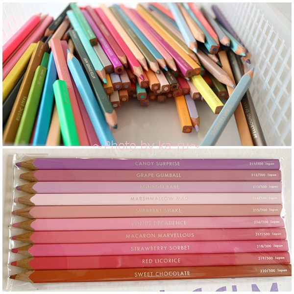 フェリシモ500色の色えんぴつ TOKYO SEEDS_試し書きをした感想