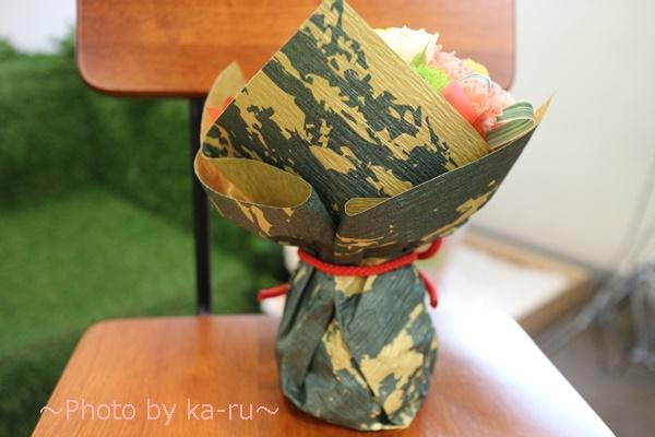日比谷花壇 敬老の日そのまま飾れるブーケのセット_ラッピングうしろ