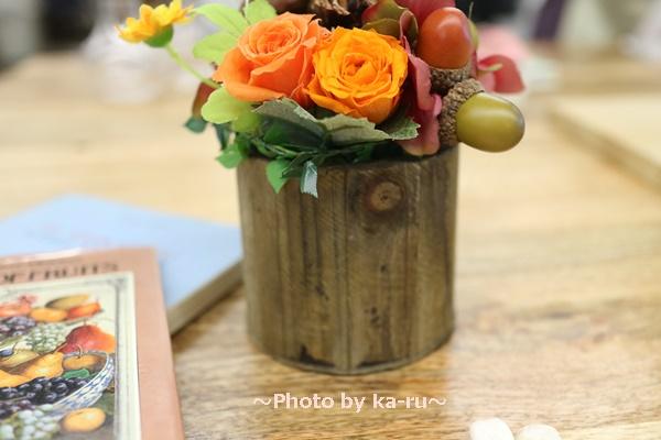 日比谷花壇フラワーギフトチップとデール_花材