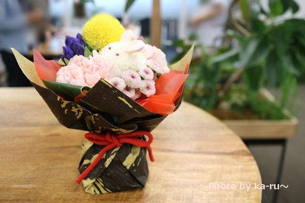 日比谷花壇敬老の日 そのまま飾れるブーケ「お月様とうさぎ」_全体