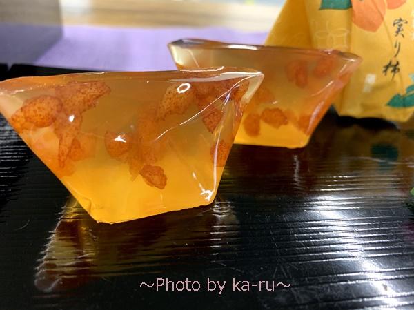 敬老の日 日本橋屋長兵衛「暦菓子 実り柿」とそのまま飾れるブーケのセット_果実