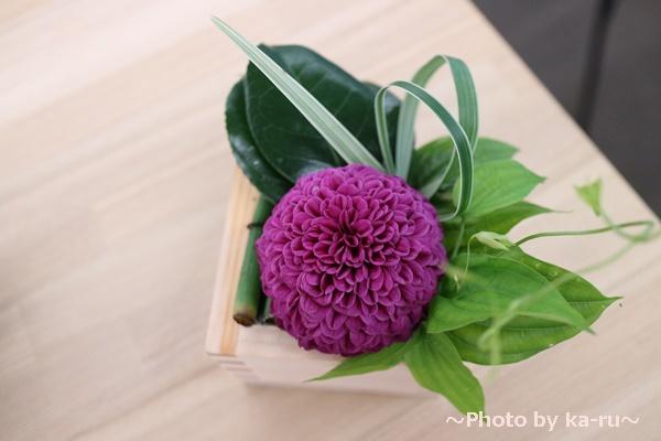 デザイナーズアレンジメント「令和・凛」_紫色のマム