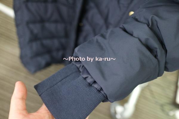 フェリシモ リブ イン コンフォート 寝袋級の暖かさ ロングダウンコート〈ネイビー〉_袖口が二重