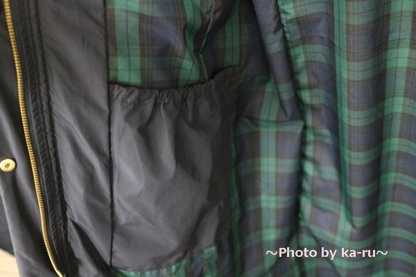 フェリシモ リブ イン コンフォート 寝袋級の暖かさ ロングダウンコート〈ネイビー〉_内ポケット