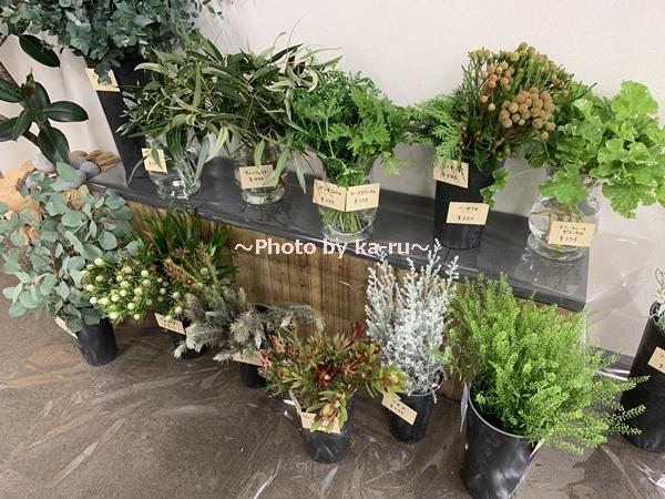 日比谷花壇「ハナノヒ教室 ~基礎から学べる花瓶生け~」_グリーン