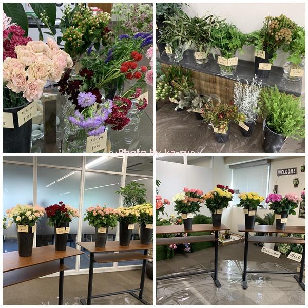 日比谷花壇「ハナノヒ教室 ~基礎から学べる花瓶生け~」_フラワーブッフェ