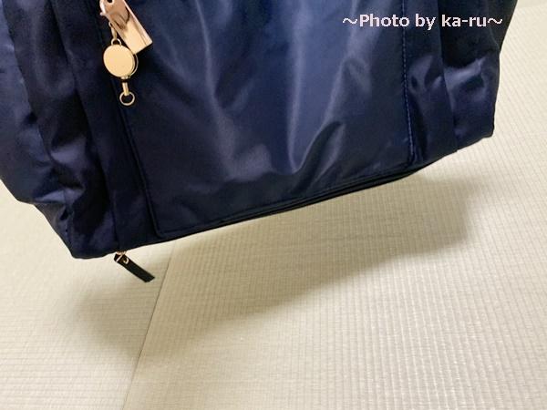 フェリシモ ことりっぷコラボの軽量バック_底面に隠しポケット 傘を入れてみた 状態