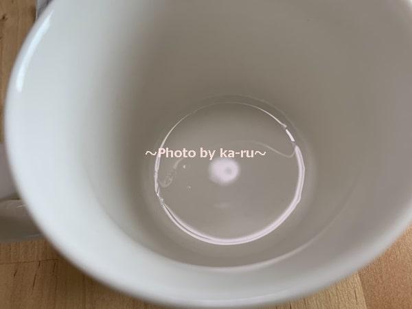 ナースル「低分子 純粋コラーゲン」_びわ茶に入れてみた 残らない