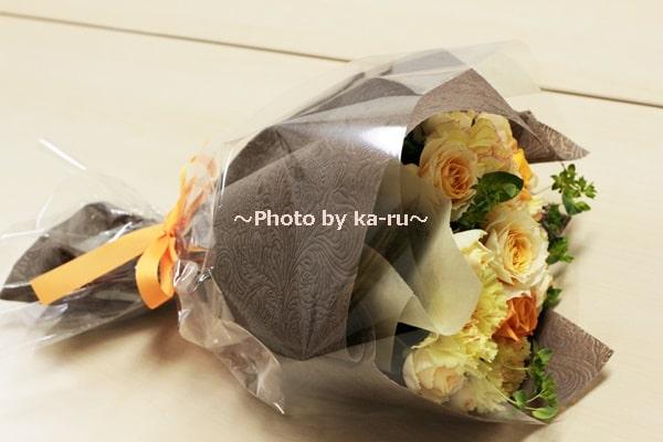 イイハナ母の日 花束「陽だまり~感謝を込めて~」_ラッピング