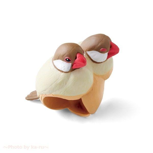 フェリシモ「もっちり文鳥の傘タグの会」シナモン文鳥