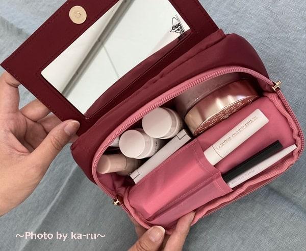 ムーミン×フェリシモ-ポーチ ミムラ 中の色はピンク