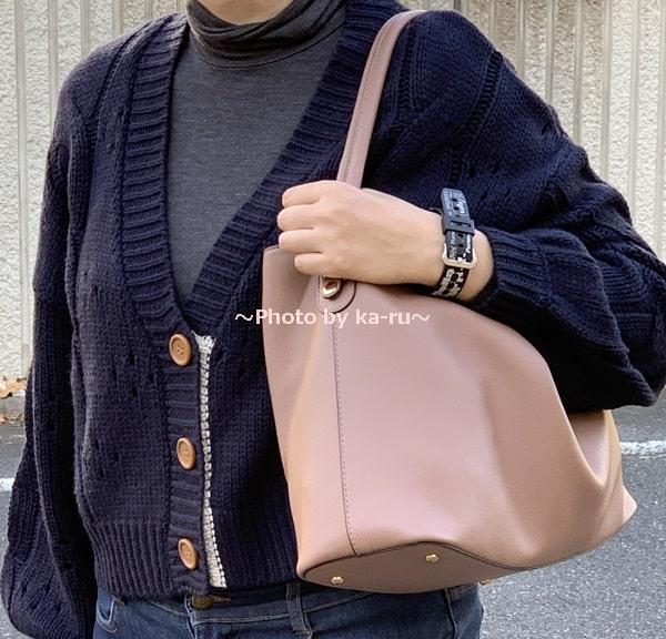 香村薫さんとフェリシモコラボ「ワンショルダー2-WAYバッグ」 ワンハンドル