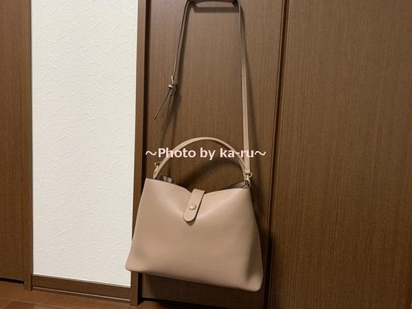 香村薫さんとフェリシモコラボ「ワンショルダー2-WAYバッグ」 ショルダー付き