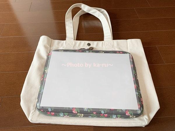 エディー・バウアー キャンバストートバッグミディアム_ノートパソコンが入る大きさ