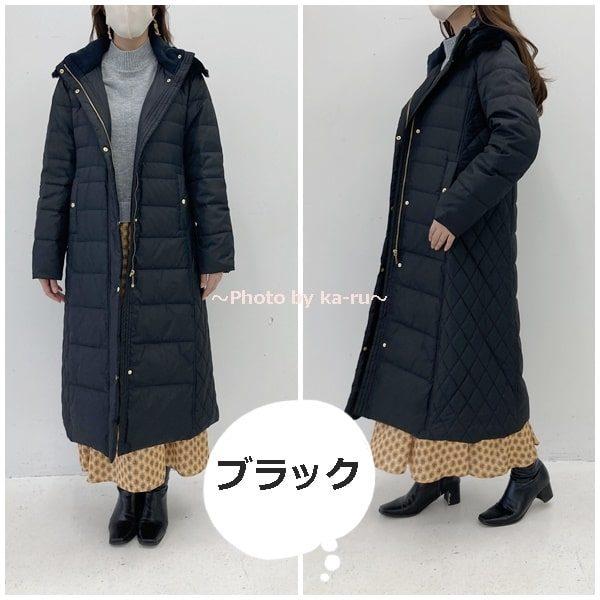 寝袋みたいなロングコート2020-ブラック