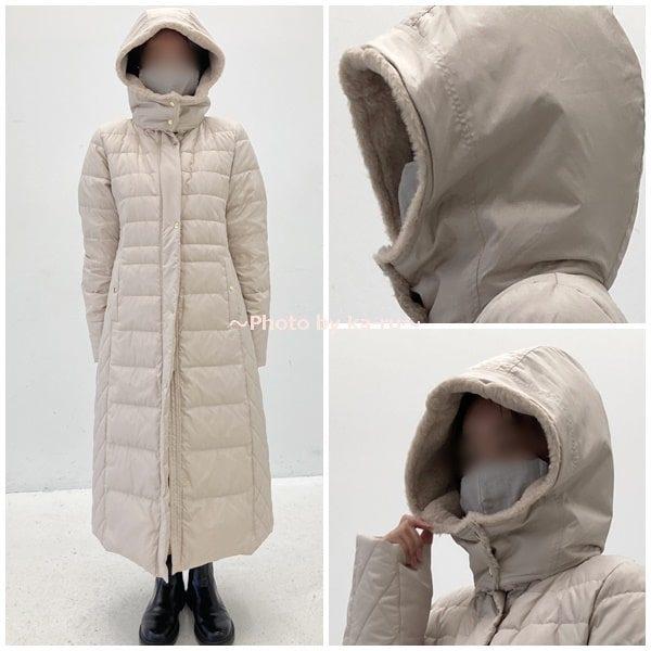 寝袋みたいなロングコート2020-首元が温かい
