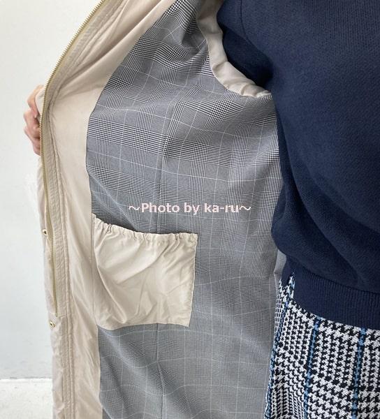 寝袋みたいなロングコート2020-内ポケット
