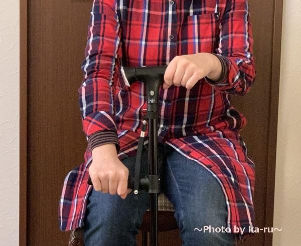ショップジャパン「クレバーケーン」 椅子から立ち上がる
