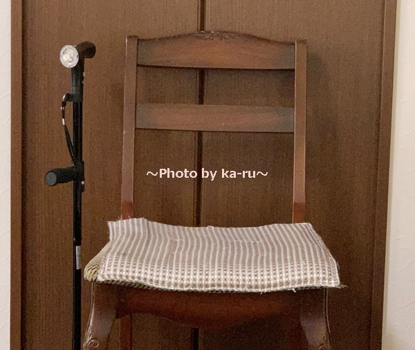 ショップジャパン「クレバーケーン」 自立式だから椅子に座る時