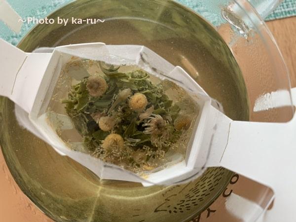 日本茶のドリップバッグ「Drip Tea」煎茶&カモミール2杯目