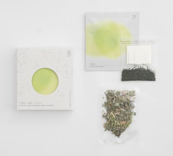 「Drip Tea」美味しい入れ方_煎茶+山椒・クロモジ