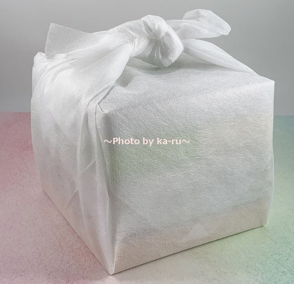 「Drip Tea + Plus」風呂敷包みの包装