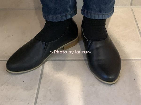 フェリシモ「シューティ」ブラック履いてみた