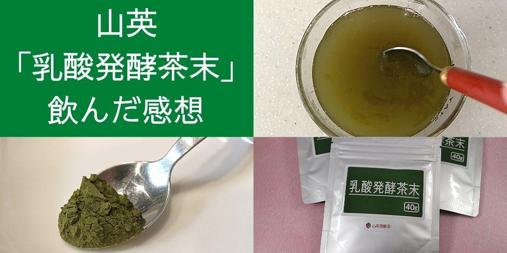 山英「乳酸発酵茶末」レビュー