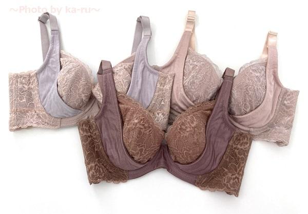 フェリシモ「背中への胸流れガードブラジャーの会」ヌーディーカラーは3種類